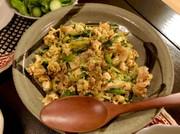 卵と豆腐チャンプルーの写真