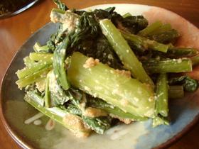 小松菜の辛子ごま和え