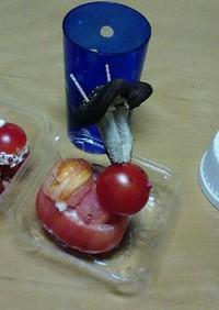 トマトとミディトマトのトナカイとサンタ達