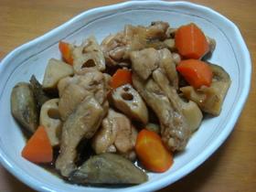 手羽と根菜のコク甘♡こってり煮