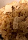 豆腐のバター醤油炊き込みご飯