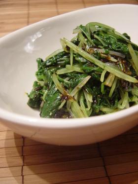 ☆しゃきしゃき☆水菜の海苔山葵和え☆