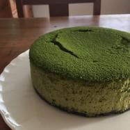 抹茶のニューヨークチーズケーキ