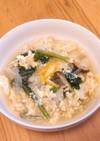 白菜と卵のゆず風味スープ