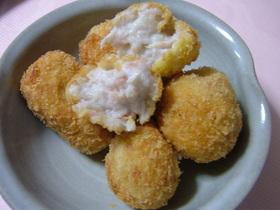 モチッ♬トロ~❤里芋のチーズ入りコロッケ
