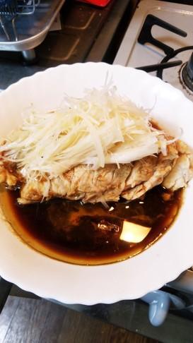 しっとりむね肉で❤中華風ゆで鶏☺