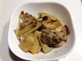 エリンギと豚肉のオイスターソース炒め