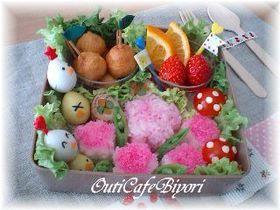 *桜満開!!お花見弁当♪ 型で簡単に*