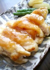 鶏胸肉の甘味噌照り焼き