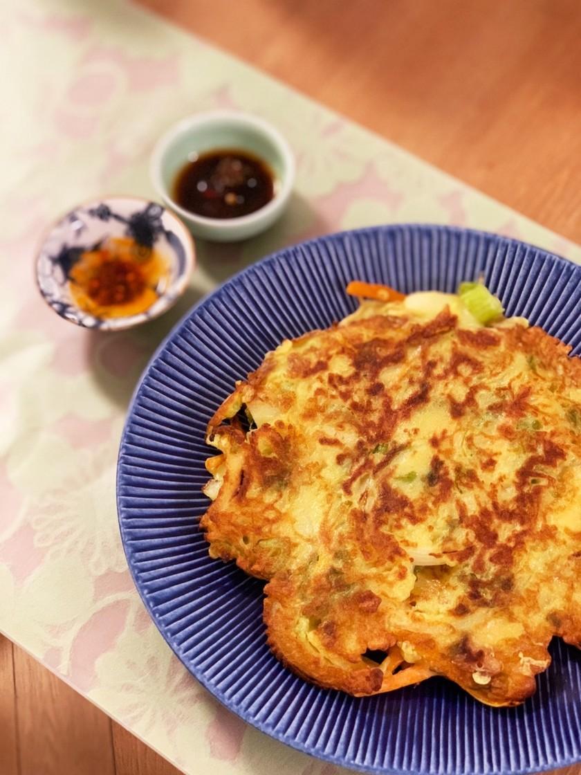 【リメイク】かき揚げのタネで作るチヂミ