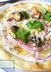 中東風✿鯖とヨーグルトのクリスピーピザ