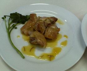 ∞鶏肉の濃厚オレンジジュースソース添え∞