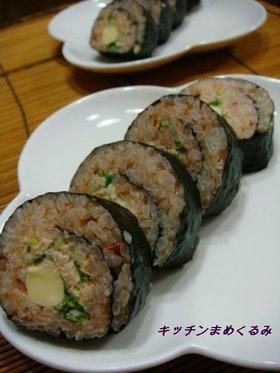 ケチャップdeツナと水菜の洋風太巻き
