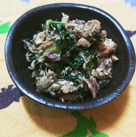 小松菜とサバ缶で簡単めちゃ旨おかず☆