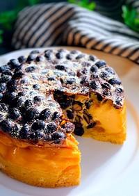 リメイク黒豆入りラムレーズンチーズケーキ