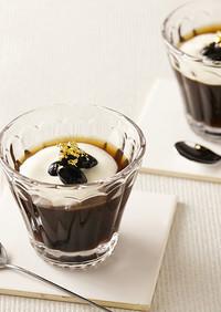 お節アレンジ☆黒豆のコーヒーゼリー
