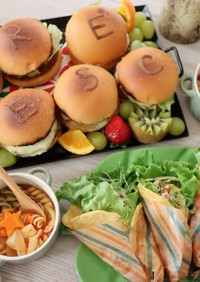 子供達と簡単パーティークレープサラダ