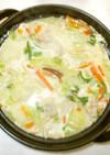 豆乳味噌鍋♪簡単な豚肉と白菜の豆乳鍋