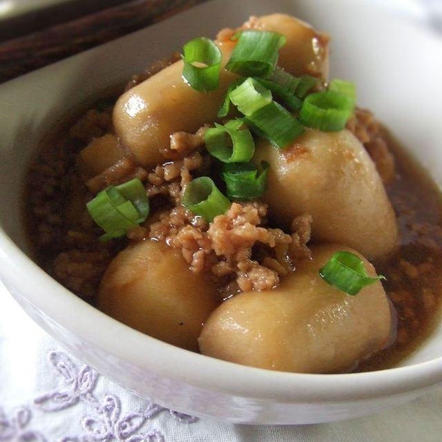 里芋 ひき肉 煮物 レシピ