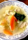 入れて煮込むだけ、豚バラで野菜スープ♪
