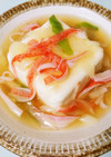 簡単♫豆腐の中華風あったか餡かけ