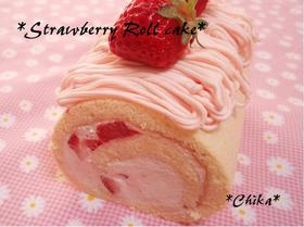 いちごのロールケーキ~モンブラン風~