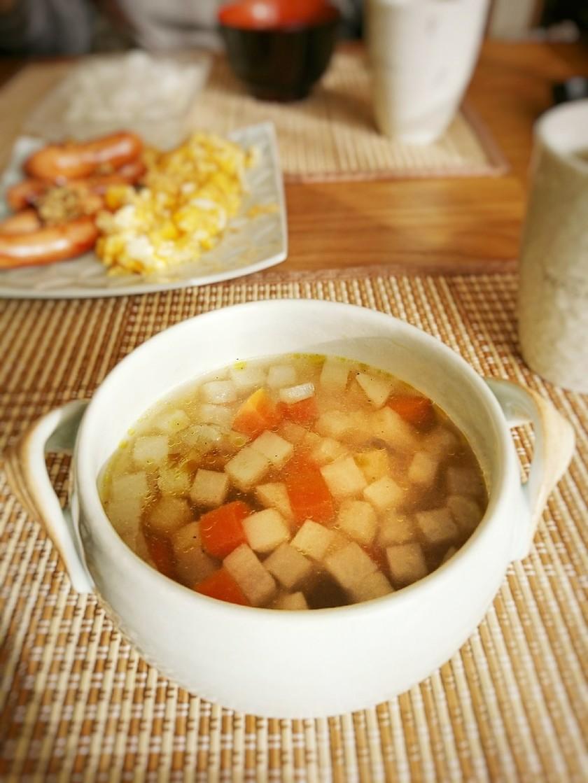だいこん♪にんじん♪ごぼうコンソメスープ