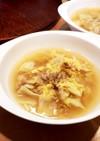 キャベツとツナの卵スープ