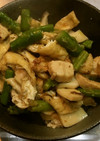 鶏肉とエリンギのわさび炒め