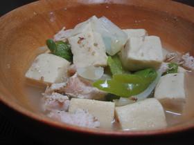 とりガラ×ごまDE高野豆腐の煮付け♪