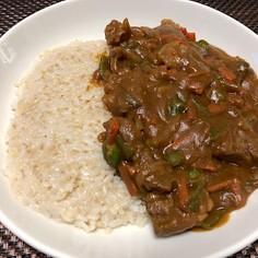 牛角切り肉のテキトーデミカレー