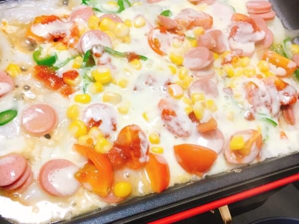 BRUNOを使って余ったお餅で餅ピザ