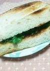 チーズと野沢菜ワサビのサンド