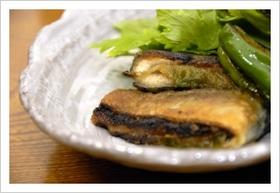 青魚の梅肉サンド焼き