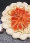 ブナピーとサーモンのカルパッチョ
