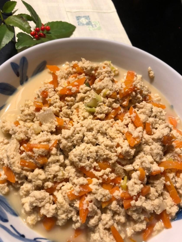 懐かしい味  粉豆腐の卵とじ