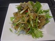 簡単なお酒のあて!中華クラゲと水菜サラダの写真