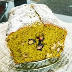 正月の黒豆で♪分量簡単抹茶パウンドケーキ