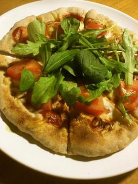 全粒粉の窯焼き風ピザ