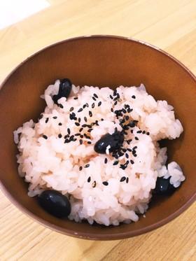 お正月の黒豆でお赤飯