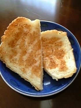 なんとなく懐かしい味◆砂糖醤油のトースト