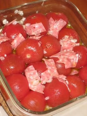 ビアソーセージ&ミディトマトのマリネ