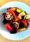 車麸とさつま芋の黒酢煮酢豚風