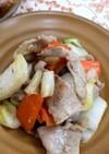 白菜と豚薄切り肉の胡麻油炒め