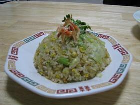 レタスチャーハン(鶏肉と青梗菜)