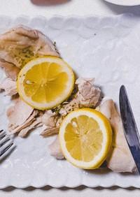 鶏ハム〜レモンと白ワインのソース♪