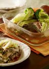 レンジで簡単!豚肉と冬野菜の重ね蒸し