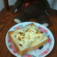 バナナとチーズの餅トースト❗
