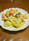 カシューナッツ入り味噌マヨ×温野菜サラダ