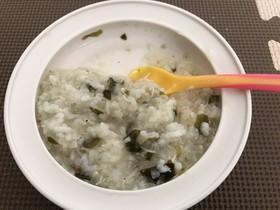 離乳食後期 しらすとわかめの混ぜご飯